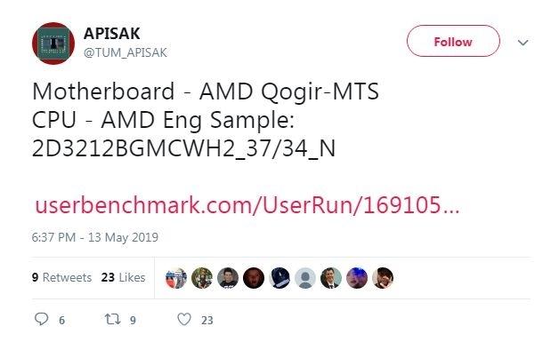 Процессор AMD Ryzen 3000 (Matisse) с 12 ядрами сможет разгоняться до 5,0 ГГц